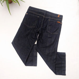 7 For All Mankind Jeans - 7 FOR ALL MANKIND || Dark Cropped DOJO Jeans